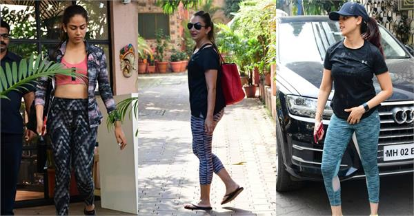 mira rajput seema khan genelia d souza spotted outside the gym