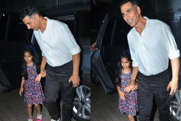 akshay kumar movie date with daughter nitara
