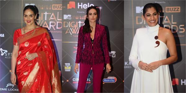 film and tv stars spotted at mtv iwmbuzz digital awards