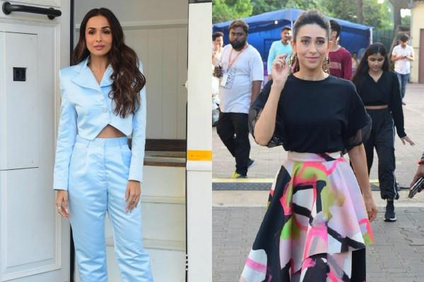 malaika arora and karishma kapoor at the set of movie masti with manish paul