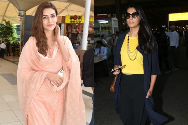 kriti sanon and mugdha godse spotted at airport