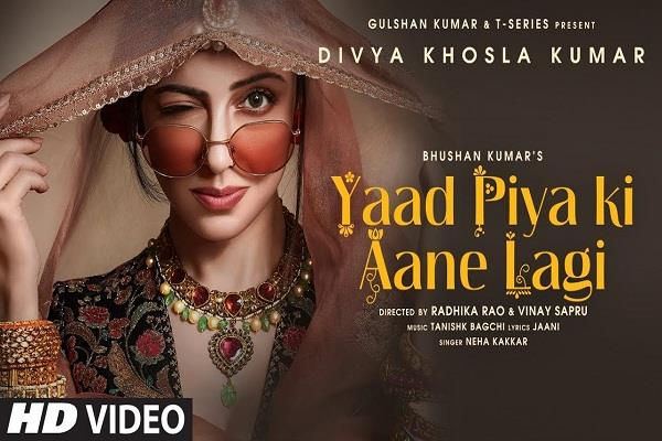 divya khosla kumar recreates falguni pathak s yaad piya ki aane lagi song