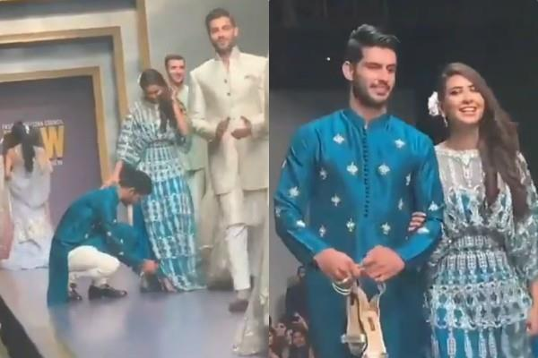 user praised pakistani  who helped fellow during ramp walk
