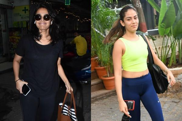 swara bhaskar and mira rajput spotted outside the gym