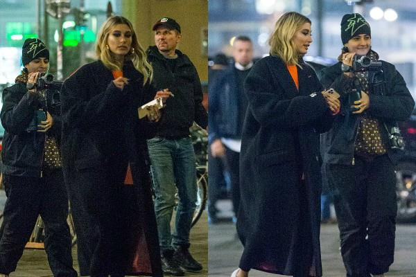 justin bieber wife hailey looks stylish as she hangout with friends