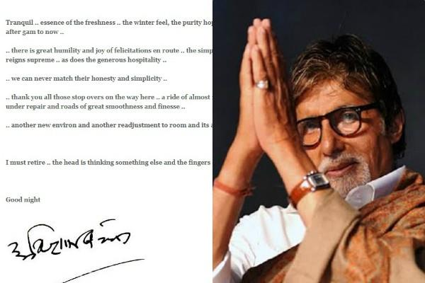amitabh bachchan feels his body is giving him a message to retire