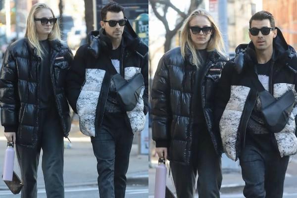 पति जो का हाथ थाम न्यूयाॅर्क की सड़कों पर घूमने निकली सोफी, ऑल ब्लैक लुक में दिखीं ग्लैमरस