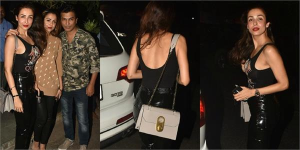 malaika arora amrita arora spotted at pali village with vikram phadnis