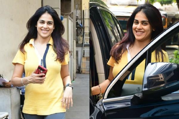 genelia d souza spotted outside the gym