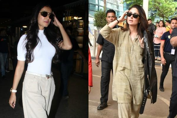 kareena and sonal chauhan spotted at airport