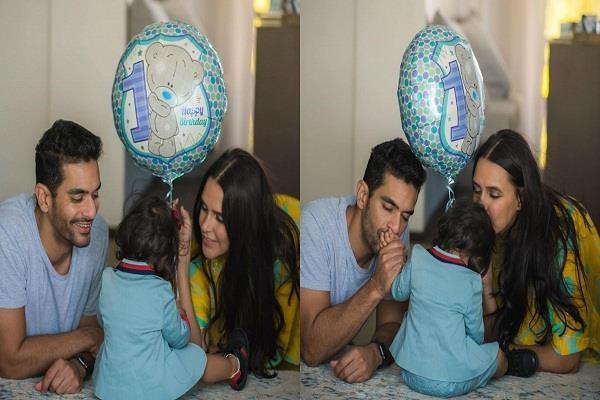 neha and angad bedi reached amritsar on daughter first birthday