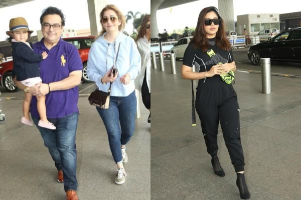 singer adnan sami and actress bhumi pednekar looked at airport