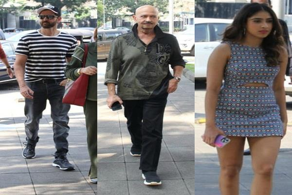 hrithik arrives to celebrate sister s birthday in cool look