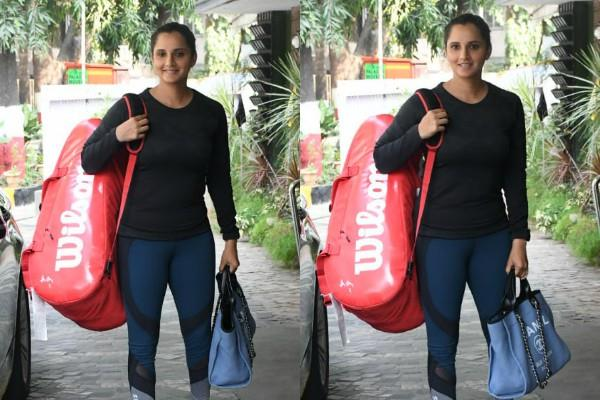 sania mirza spotted outside the gym