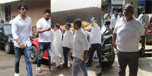 sonu sood sajid nadiadwala and other celebs bid final farewell to champak jain