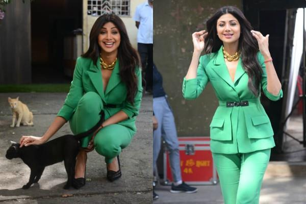 shilpa shetty looked stunning in pantsuit