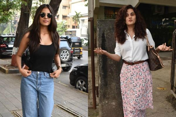 taapsee pannu and malavika mohanan spotted at mumbai