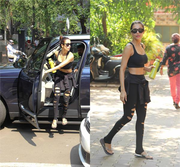 malaika spotted outside the gym stunned in black outfit