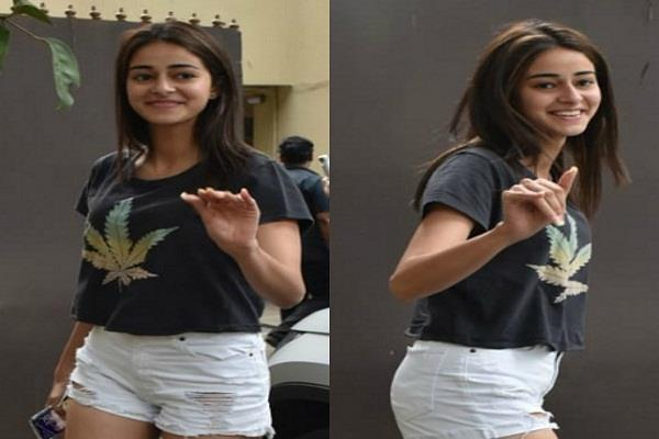 ananya pandey spotted in stylish look