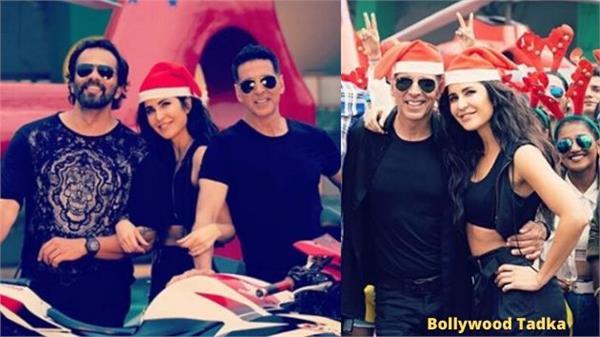 katrina christmas celebration with akshay and rohit shetty