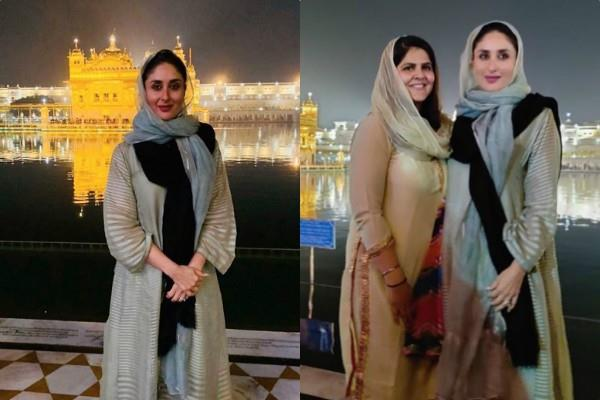 kareena kapoor visit golden tample in amritsar