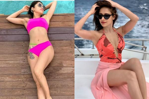 dream girl actress nushrat bharucha bikini pictures viral