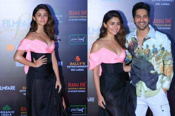 alia bhatt varun dhawan cute chemistry at filmfare glamour and style awards