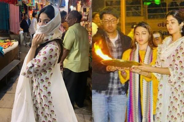 janhvi kapoor varanasi vacation pictures goes viral