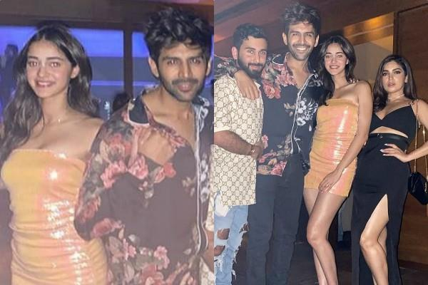 kartik aaryan party with ananya pandey and bhumi pednekar see inside pictures