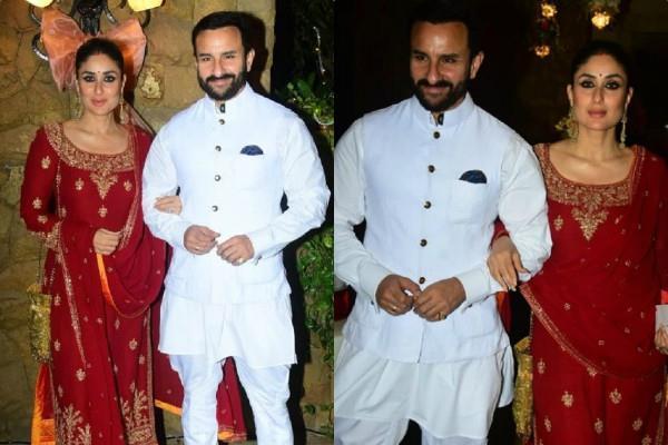 kareena attend brother armaan jain roka ceremony with husband saif