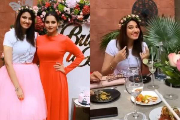sania mirza sister anam mirza pre wedding bash pictures viral on socail media
