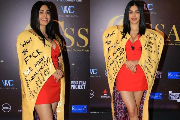 adah sharma spotted at critics choice award show