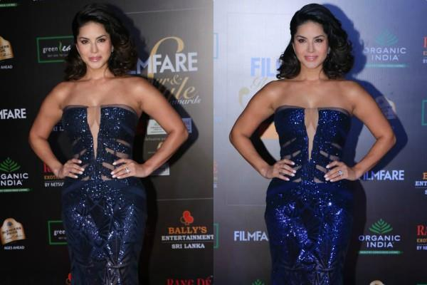 sunny leone at the filmfare glamour awards show