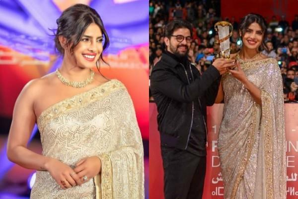 actress priyanka chopra honoured at marrakech film festival