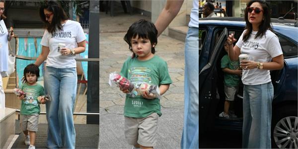 taimur ali khan goes shopping with mommy kareena kapoor khan