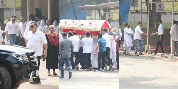 sunny deol rishi kapoor attend dimple kapadia mother funeral