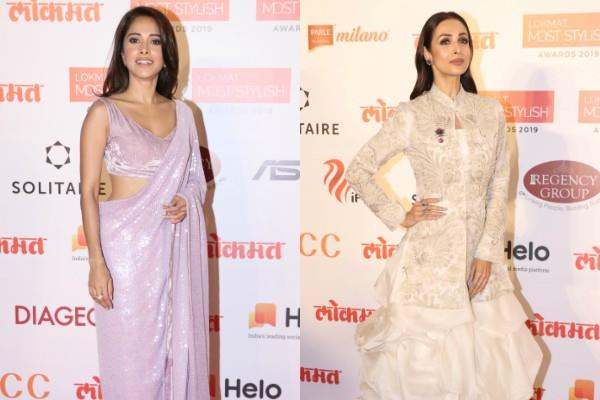 malaika arora nushrat bharucha attends lokmat most stylish awards 2019