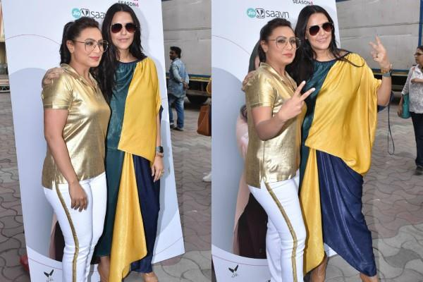 rani mukherjee spotted at no filter neha show