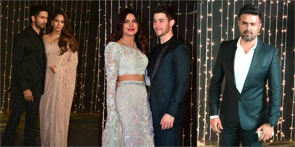 ex boyfriend shahid and harman arrived at priyanka chopra reception