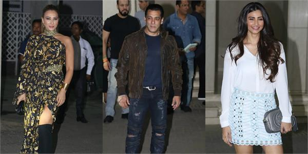 iulia vantur daisy shah and other stars arrive at salman khan birthday party