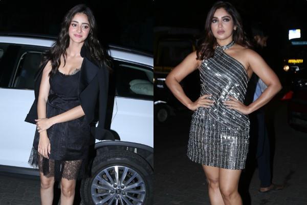 ananya bhumi and kartik at success bash of their film pati patni aur woh