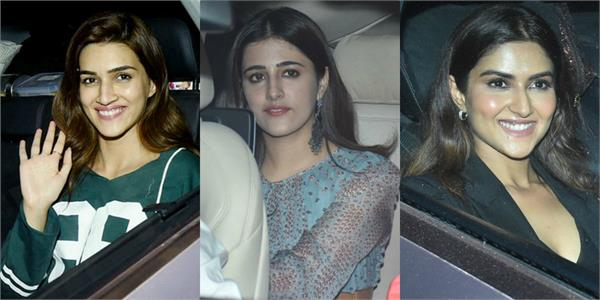 kriti sanon nupur sanon  akshay at screening of film panipat