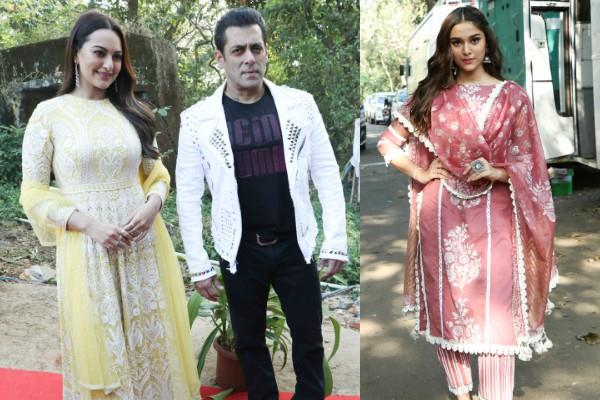 dabbang 3 stars sonakshi salman saiee reached at the bigg boss marathi set