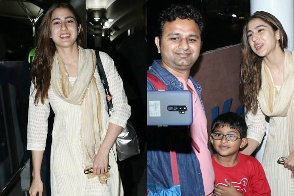 sara ali khan spotted at airport