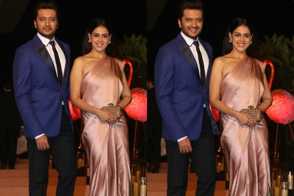 genelia d souza and ritesh deshmukh spotted at isha ambani party