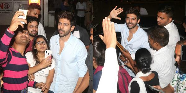 kartik aaryan arrived to siddhivinayak temple