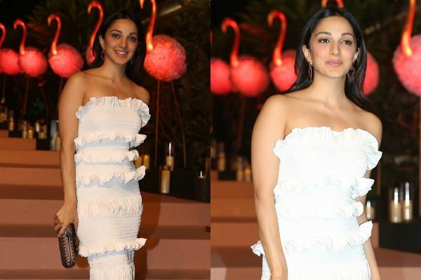 kiara advani stunning look in white dress