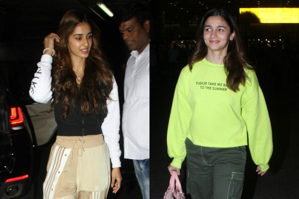 alia bhatt and disha patani spotted at the airport