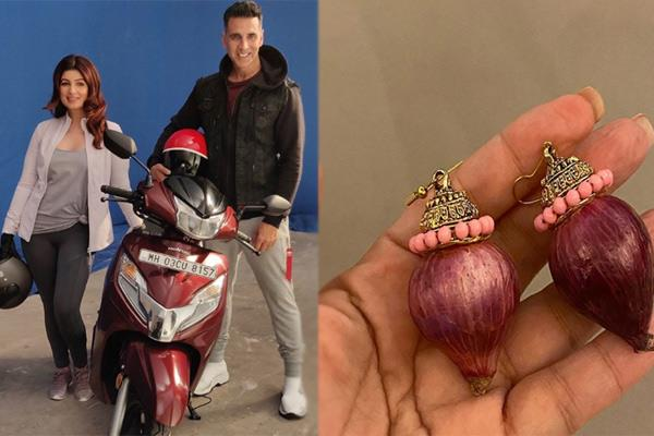 akshay kumar gifts onion earrings to wife twinkle khanna see pics