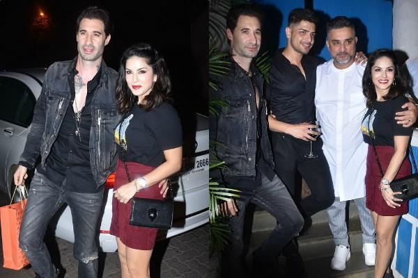 sunny leone attend raza beig birthday party with husband daniel weber